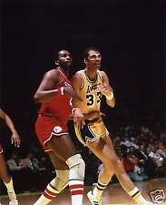 KAREEM ABDUL JABBAR LAKERS-MOSES MALONE  8X10 PHOTO