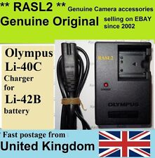 Genuino Original Cargador Olympus Li-40C li42b U720 U725SW U730 U740 U780 725sw