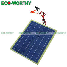 20Watt Epoxy Solar Panel 20W PV Panneau Solaire with 2M Cable & 30A Battery Clip