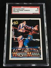 """JAKE """"THE SNAKE"""" ROBERTS wANDRE THE GIANT 1990 CLASSIC WWF SIGNED AUTO CARD SGC"""