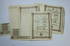 SOCIETE DES FABRIQUES RUSSES FRANCAISES PROWODNIK 100 ROUBLES 1906 X 8 ACTIONS