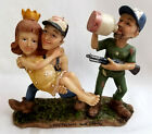 Chesapeake Bay Redneck Moonshine Shotgun Wedding Figurine Hillbilly Comedy