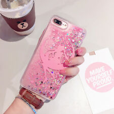 Girly Sailor Moon Bling Glitter Liquid Hard Phone Case for iPhone 6 6s 7 Plus for iPhone 6plus Girl