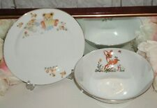 Vintage Bambi Baby Bowl And Plate