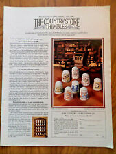 1982 Franklin Porclain Ad  The Country Store Thimbles Campbells Bon Ami Hersheys