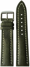 22x18 RIOS1931 for Panatime Olive Vintage Watch Strap w/Buckle for Breitling