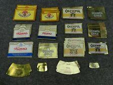 BEER LABELS Lot of 19 Old Vintage MINI Grain Belt Duquesne  Goebel Hamm/'s