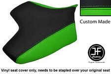 BLACK& L GREEN VINYL CUSTOM FOR KAWASAKI Z750 07-12 Z1000 07-09 FRONT SEAT COVER