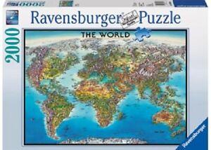 Ravensburger 2000 Piece Jigsaw Puzzle - World Map