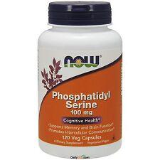 NOW® Phosphatidyl Serine Cognitive Health 100 mg 120 Vcaps, Memory Brain Health