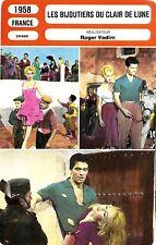 Fiche Cinéma. Movie Card. Les bijoutiers du clair de lune (France) 1958 (R2)