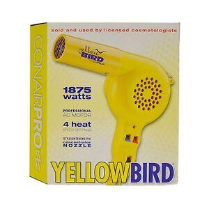 Conair YellowBird 1875 Watt Hair Dryer with 4 heat settings