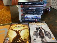 PS3 Lot of 12 Games Mass Effect Batman Arkham Resident Evil God of War Series
