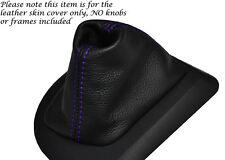 Púrpura Stitch Cuero Auto Automático Gear Polaina Para Bmw Serie 5 E60 E61 03-07