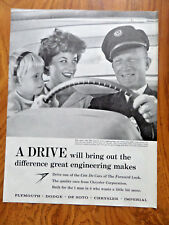 1959 Plymouth Dodge Chrysler Imperial De Soto Ad Man who flies Knows