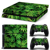 Cannabis Weed For Sony playstation PS4 Original Stickers & 2 Controllers Skin