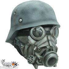 Overhead de látex de lujo Miedo Horror Halloween traje de guerra química máscara de gas