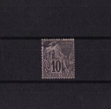 timbre France Colonies Francaises  Dubois   10c  noir sur lilas   num: 50   obl