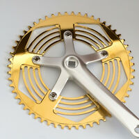 Stylish 56T Chainring + Chainguard For BROMPTON Glossy Gold