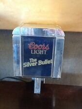 Coors Light The Silver Bullet Wall Lamp Light Up Vintage 1988 Beer Sign