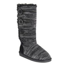 Muk Luks Womens Liza Pull On Winter Boots 16759 Ebony Marble Size 8 #498