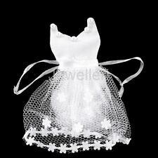 12pcs Wedding Dress Bride Organza Drawstring Bags Candy Bag Jewellry Bags