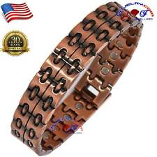 EXCLNT 23X STRONG MAGNETIC VTG FINISH COPPER GOLF BRACELET MEN ARTHRITIS AX18
