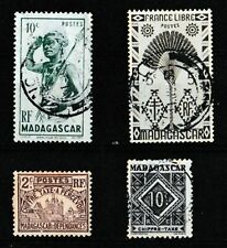 France Madagascar Selection of 4 stamps Unused and Used