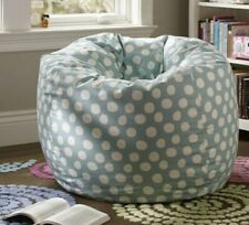 PB TEEN POOL POLKA DOT 41 IN. BEANBAG AND COVER, no stains, 100% cotton