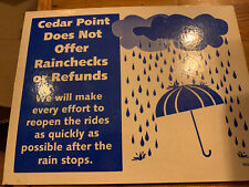Cedar Point Amusement Theme Park Ticket Booth Sign Schedule And Policies