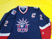 Brian Leetch New York Rangers Jersey blue Starter Mens 2xL Lady Liberty xxL