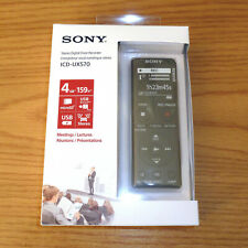 Sony ICD-UX570 == 4GB == Stereo Digital Voice Sound Recorder == NEW IN BOX
