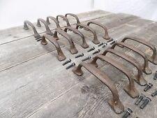 "15 CAST IRON HANDLES RUSTIC DRAWER PULLS 5 1/2"" LONG W/ SCREWS PULL HANDLE WOW!!"