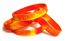 50 Christian Silicone Wrist Bands Bracelets - On Fire For God - Jeremiah 20:9
