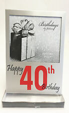 40th Birthday Gifts Photo Frame Silver Gift Present Birthday For Women Men