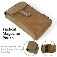 12GA Tactical Magazine Pouch Reload 25 Round Shells Shotgun Cartridge Ammo Bag