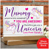 Personalised Unicorn Gifts For Her Birthday Christmas Daughter Sister Mum Girls