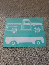 Chalk Couture SINGLE VINTAGE TRUCK transfer, Brand New size B