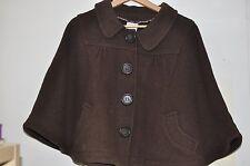 Zara brun manteau court chauve-souris Cape Veste Taille S