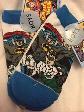 Justice League 6 Pair Socks Boys Size 6 - 8.5 NEW