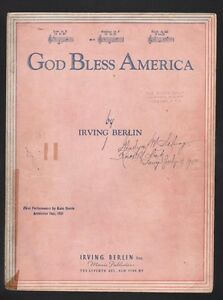 God Bless America Sheet Music