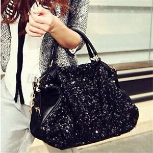 Pailletten Damentasche Handtasche Schultertasche Umhängetasche Shopper Satchel C