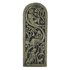 Maid Mother Crone Wall Plaque - Stone Finish Dryad Design - Goddess Wicca Pagan