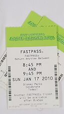 Disney FASTPASS Walt Disney World Fast Pass Ticket BUZZ LIGHTYEAR SPACE 0845