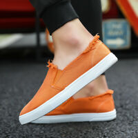 Men's Casual Canvas Shoes Flat Driving Loafer Peas Boat Slip On Breathable 2019