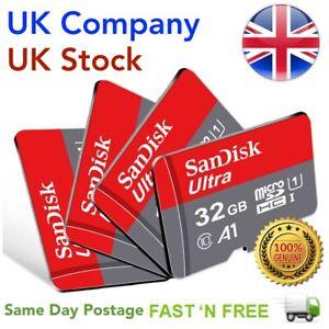 SanDisk MicroSD 32GB 64GB 128GB Class 10 TF Memory Card & SD Adapter SDXC SDHC