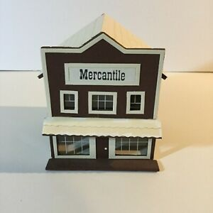 "Miniature Dollhouse Display Tiny Mercantile Store Handmade 4.5"" x 4.5"" x 5"""