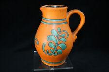 Dumler and Breiden German pottery Retro Orange vase jug pitcher
