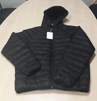 Bershka Black Padded Coat With Hood Size XL