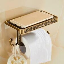 Retro Papierhalter Klopapier Toilettenpapierhalter Küchenrollenhalter mit Ablage